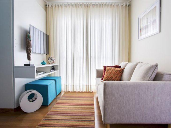 30 dicas para decorar salas pequenas com estilo e perfei o for Salas en l pequenas