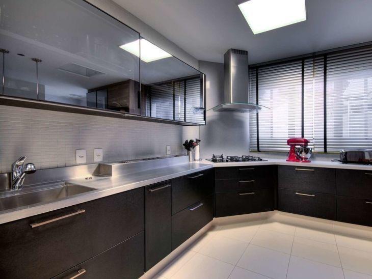 60 cozinhas pretas extremamente luxuosas e aconchegantes