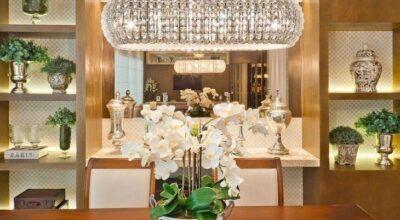 100 inspirações de lustres para a sala de jantar ficar ainda mais bonita