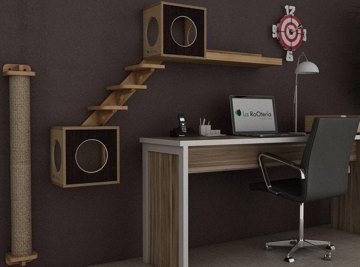 30 m veis cheios de estilo em casa para seu gato brincar. Black Bedroom Furniture Sets. Home Design Ideas