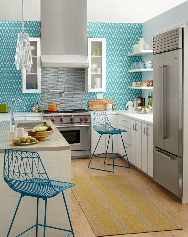 Papel de parede para cozinha 40 ideias de decora o para - Papel plastificado para paredes ...