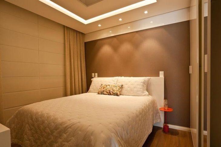 70 quartos de casal pequenos e decorados para te inspirar ~ Quarto Pequeno Para Casal De Filhos