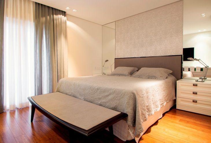 70 quartos de casal pequenos e decorados para te inspirar ~ Textura Para Quarto De Casal Pequeno