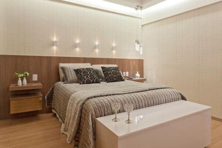 70 quartos de casal pequenos e decorados para te inspirar for Dormitorio 3x5