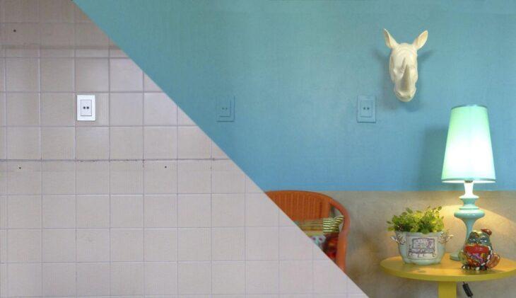 Como pintar azulejos de banheiros e cozinhas para renovar for Azulejo para pared de sala