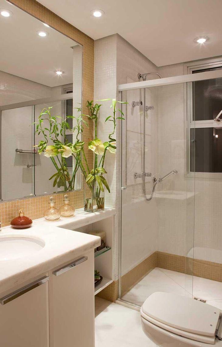 Banheiro branco 80 ideias de decoração possíveis de ter em casa -> Decoracao Banheiro Salmao