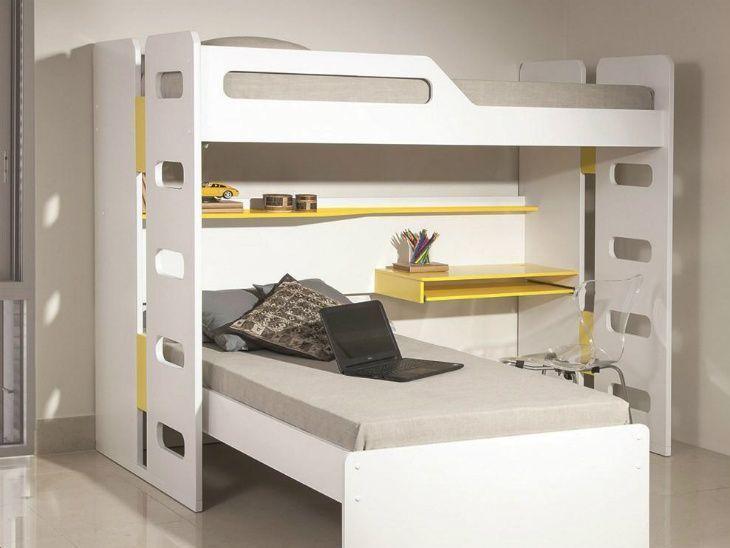 Beliche com escrivaninha 40 maneiras de otimizar quartos for Sofa que se transforma em beliche