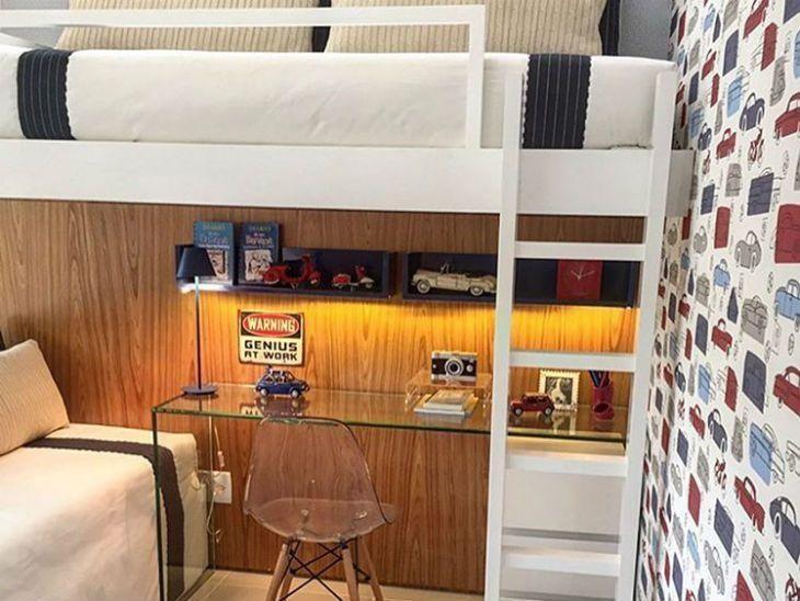 bfda5a5931 Beliche com escrivaninha  40 maneiras de otimizar quartos pequenos
