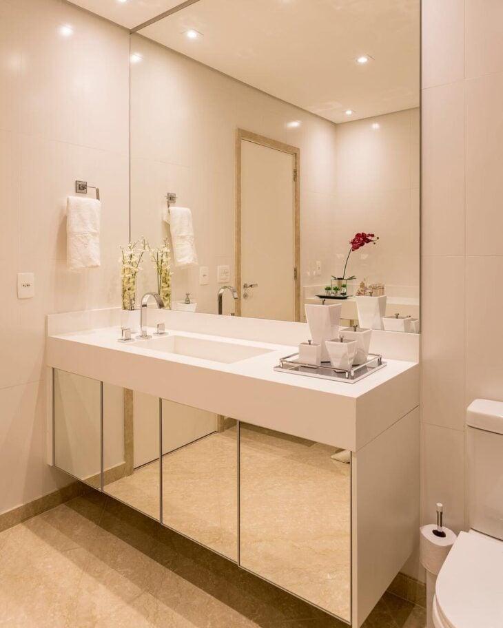 Armario De Parede Banheiro Com Espelho : Espelhos para banheiros inspira?es trazer charme