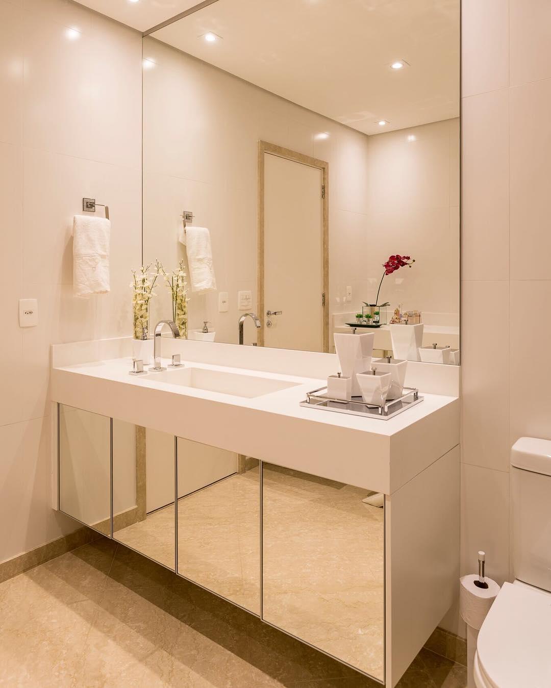 Artesanato Com Eva Flores ~ Espelhos para banheiros 50 inspirações para trazer charme ao ambiente
