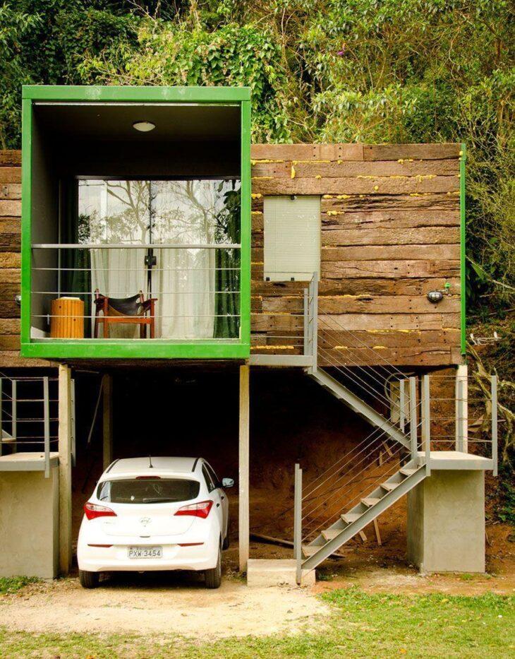 Fachadas de casas pequenas e modernas 100 fotos lindas e for Casas de container modernas
