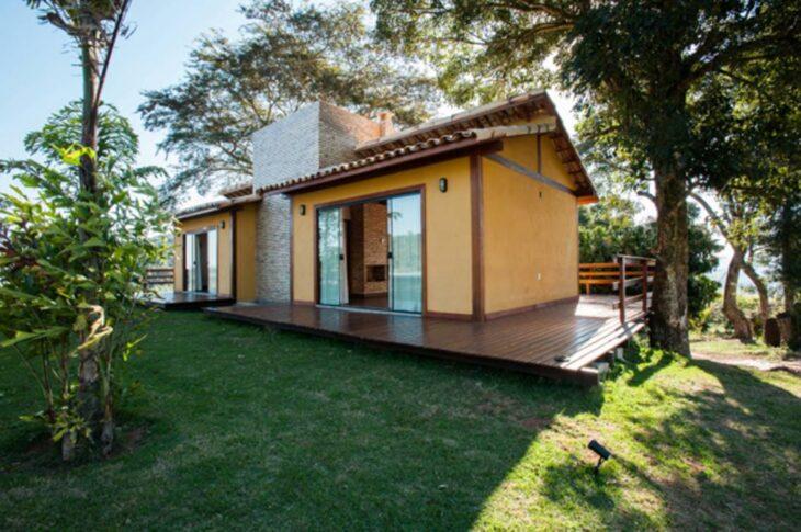 Fachadas de casas pequenas e modernas 100 fotos lindas e - Construir y decorar casas ...
