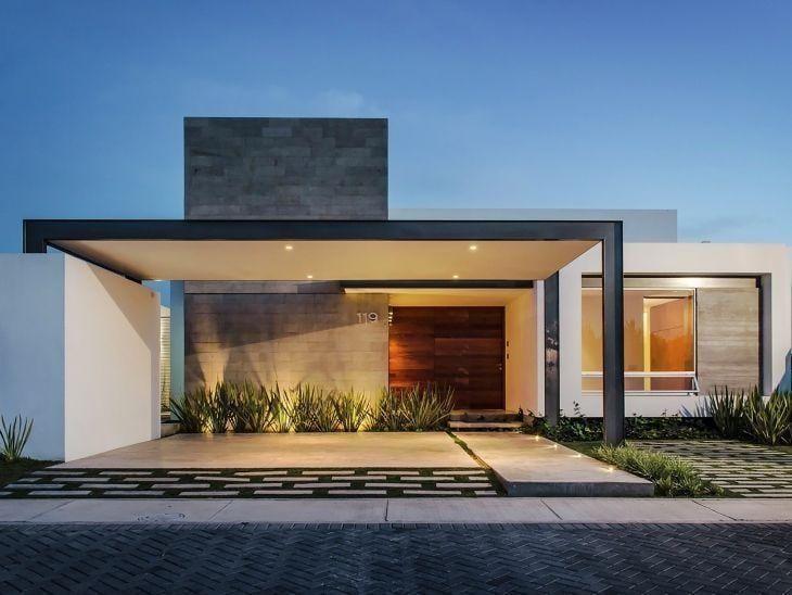 Fachadas de casas pequenas e modernas 100 fotos lindas e for Fachadas de casas modernas de 6 metros