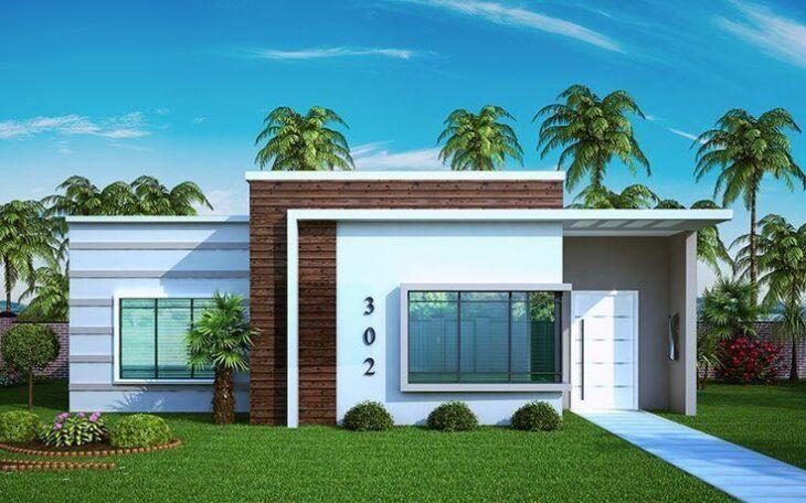 Fachadas de casas pequenas e modernas 100 fotos lindas e for Casas pequenas modernas minimalistas