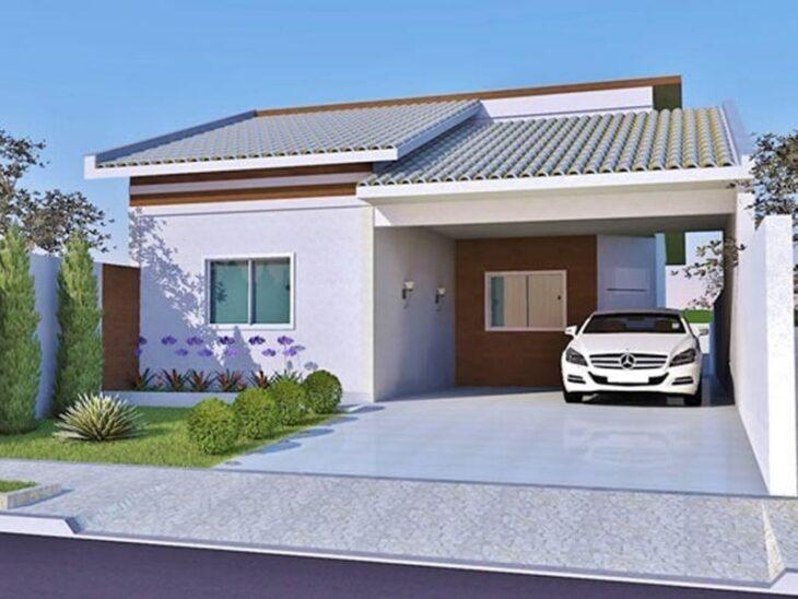 Fachadas de casas pequenas e modernas 100 fotos lindas e for Fachadas para residencias