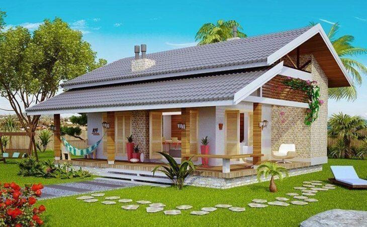 Fachadas de casas pequenas e modernas 100 fotos lindas e for Fachadas de casas estilo rustico moderno