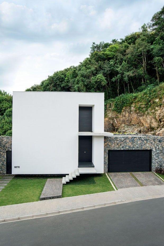 Fachadas de casas pequenas e modernas 100 fotos lindas e for Casas pequenas estilo minimalista