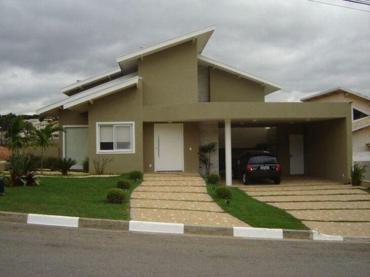 Fachadas de casas pequenas e modernas 100 fotos lindas e for Fachadas de casas estilo moderno