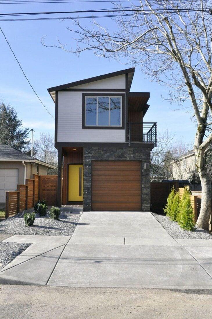 Fachadas de casas pequenas e modernas 100 fotos lindas e for Fachadas de casas elegantes modernas