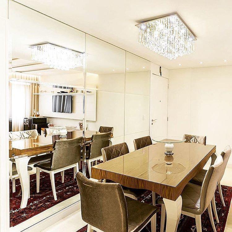 60 salas de jantar pequenas decoradas lindamente for Sala de estar luxuosa