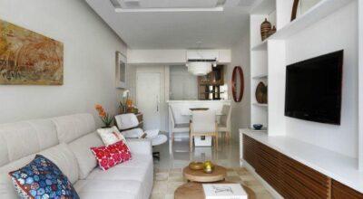 Apartamento de 90m² decorado especialmente para jovens recém-casados