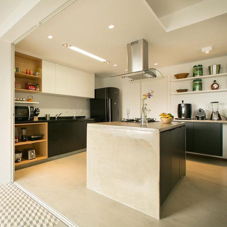 Bancada de cozinha inspirações e materiais usados na composição # Bancada De Cozinha Feita De Porta