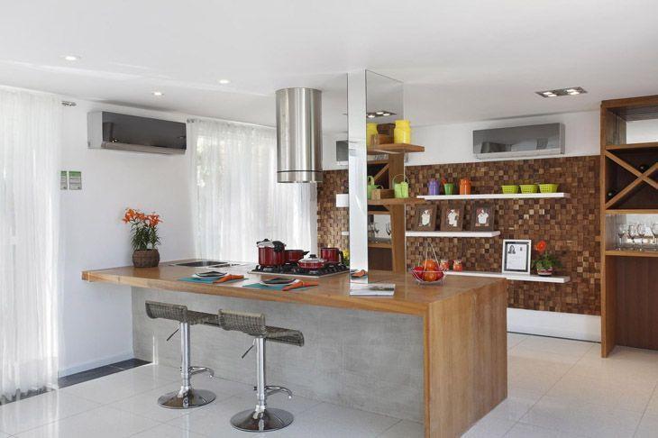 Bancada de cozinha inspirações e materiais usados na composição # Bancada Cozinha Luciane