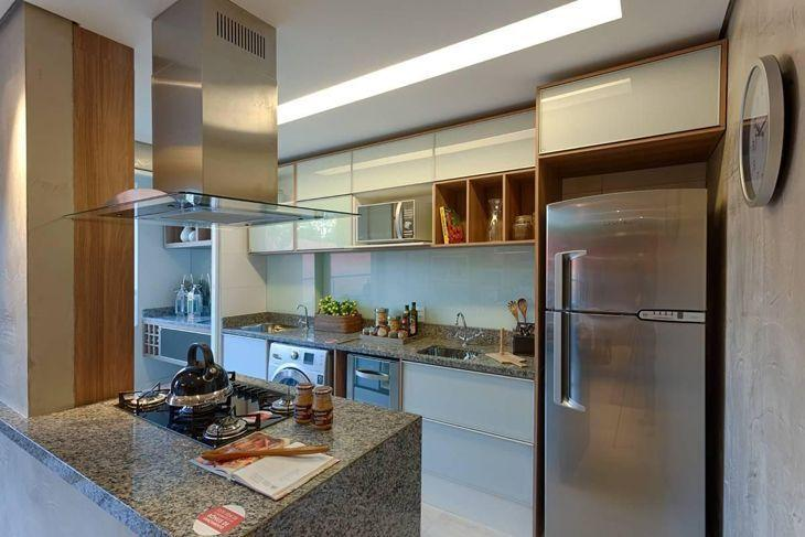 Bancada de cozinha inspirações e materiais usados na composição # Altura Minima De Bancada De Cozinha
