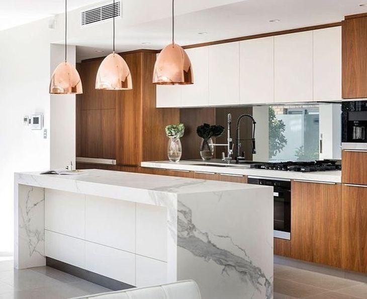 Bancada de cozinha inspirações e materiais usados na composição # Bancadas De Cozinha Com Pendentes