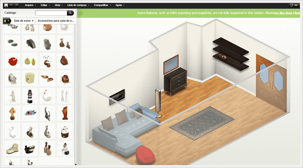 Como criar plantas de casas online e inventar o lar dos for Programa para remodelar casas gratis