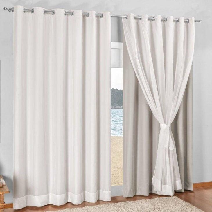 45 modelos de cortina voil branca para ambientes cl ssicos - Cortinas por metros ...