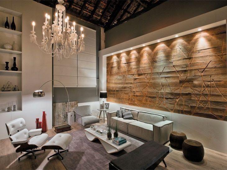 Paredes decoradas 80 ideias e dicas profissionais para a for Como e living room em portugues