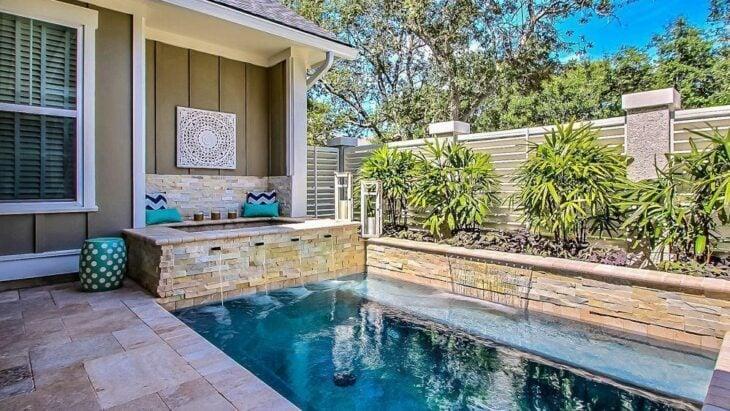 53 modelos de piscinas pequenas para todo tipo de espa o for Piscinas para casas pequenas