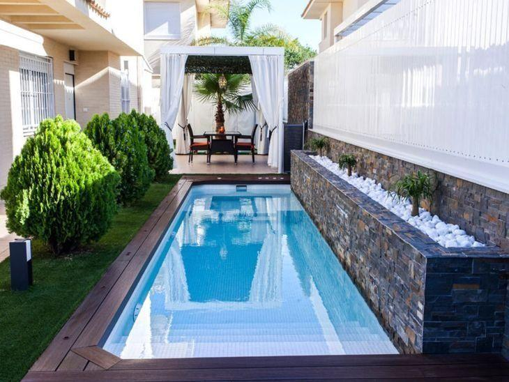 53 modelos de piscinas pequenas para todo tipo de espa o for Piscinas en el patio de la casa