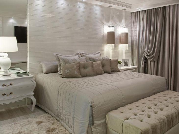 Quarto de casal com cores neutras 45 ideias para decorar for Mobilia quarto casal custojusto