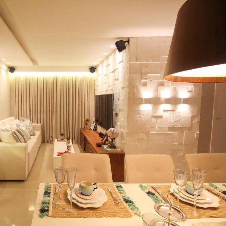 Revestimento 3d veja 30 ambientes decorados com muita for Revestimento 3d sala de estar
