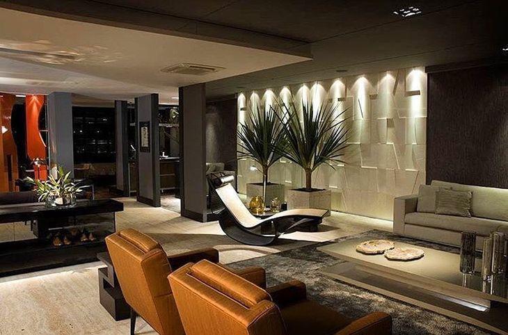 Revestimento 3d veja 30 ambientes decorados com muita for Ambientes interiores