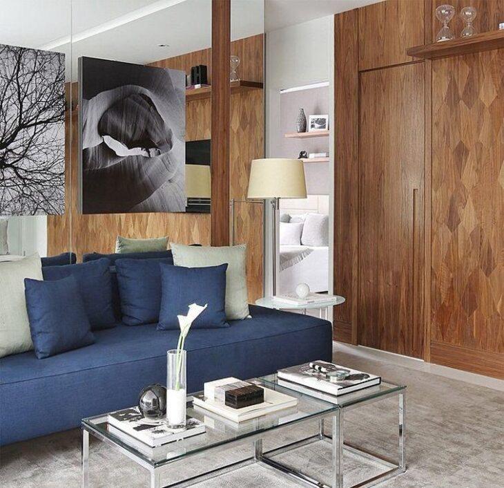 Famosos Sala azul: 55 ideias para apostar no tom na decoração RB08