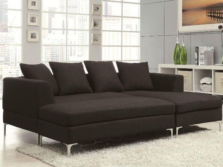 Sofá com chaise: 65 modelos e cores para uma sala super