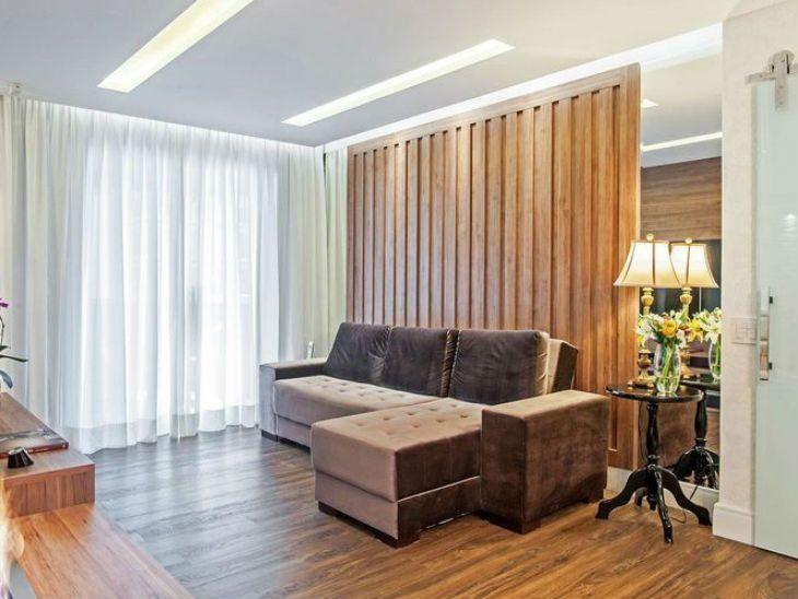 ada7118edea89a Sofá com chaise: 65 modelos e cores para uma sala super confortável