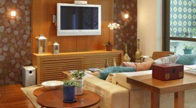 Apartamento com decoração contemporânea para um casal com filhos