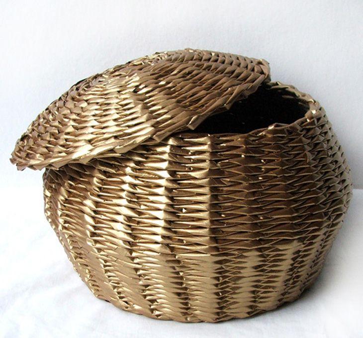 Armario Ordenado Metodo Konmari ~ Artesanato com jornal aprenda a fazer objetos de decoraç u00e3o para casa