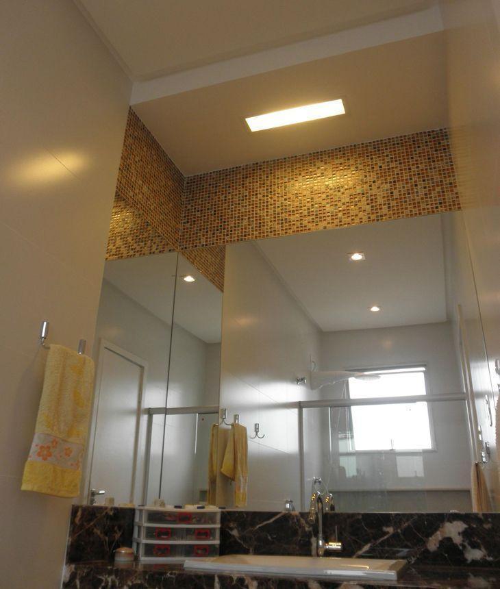 65 banheiros com pastilhas decorados para você usar como referência -> Banheiro Reformado Com Pastilha
