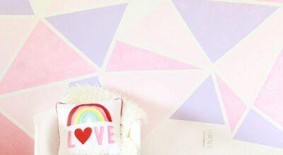 Como fazer pintura geométrica nas paredes de sua casa