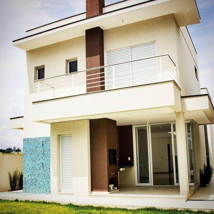 Casas Com Varanda 60 Modelos Projetos E Fotos: 60 Fachadas De Sobrados Modernos Que Você Vai Amar