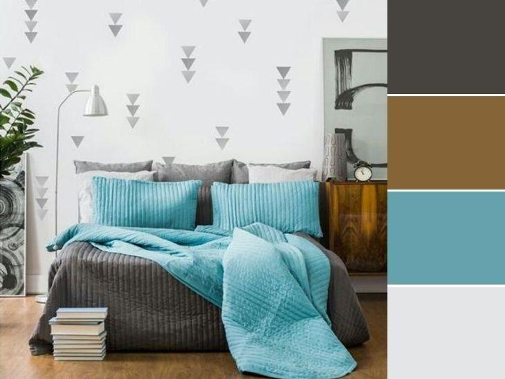 20 paletas de cores para quarto de casal para usar na  ~ Quarto Casal Cores