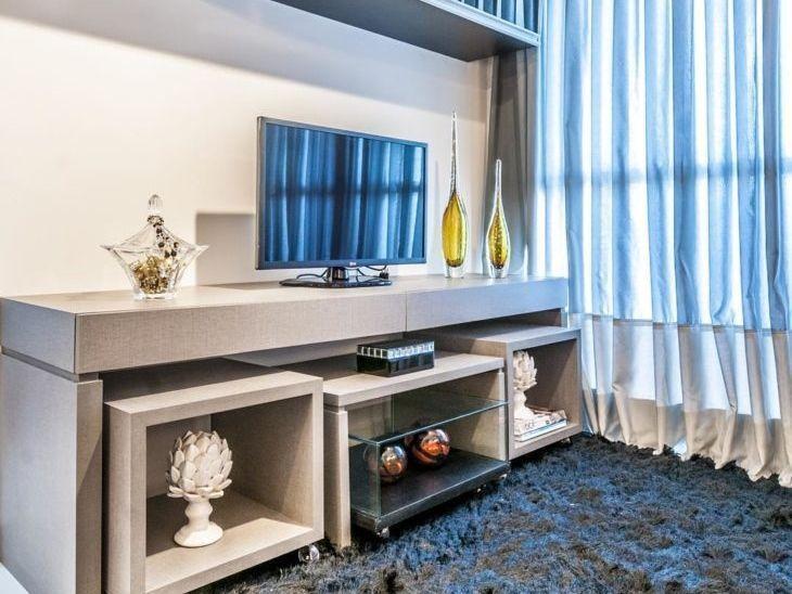 Ideias Para Sala De Tv ~ Rack para TV 65 ideias de decoração para sua sala ficar incrível