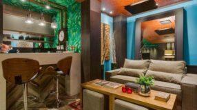 Studio de 35m² decorado para um rapaz cheio de estilo
