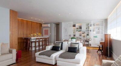 Apartamento moderno decorado para uma jovem estilosa