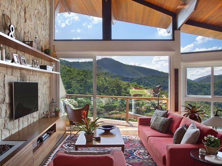 Ideia de decora o para uma casa r stica e confort vel - Como decorar mi casa rustica ...